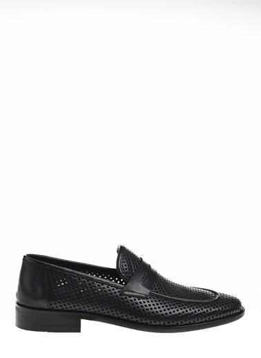 D by Divarese Klasik Deri Loafer Ayakkabı Siyah